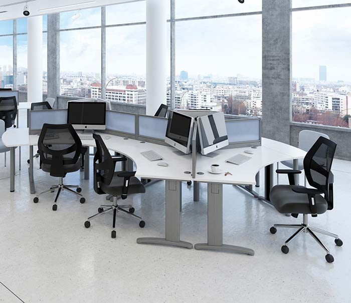 office furniture desks integrated cable management 2