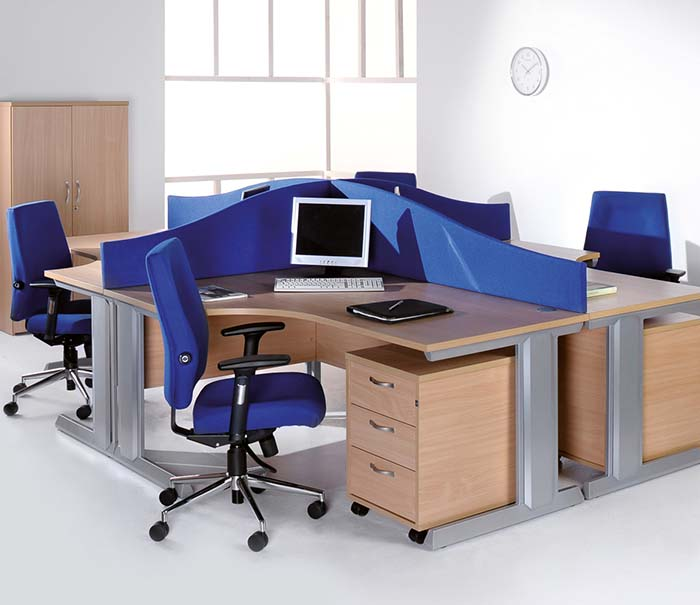 office furniture desks integrated cable management 3