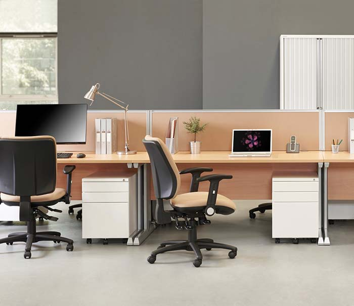office furniture desks integrated cable management 5