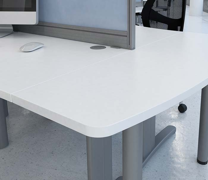 office furniture desks integrated cable management